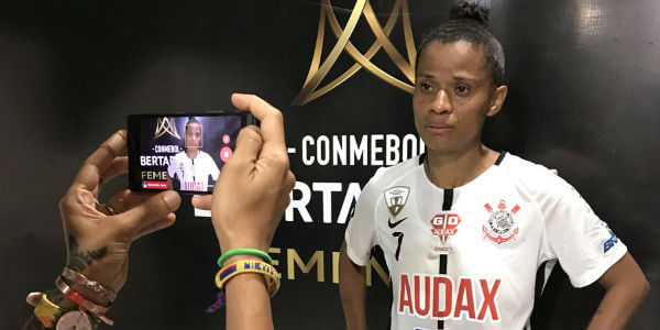 Grazielle, o destaque do Corinthians/Audax contra time colombiano