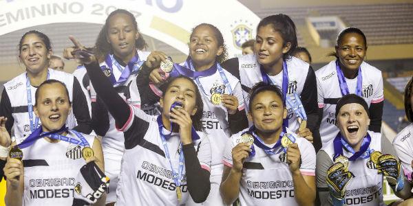 Santos é um dos favoritos no Brasileirão Feminino 2018 / Allsports