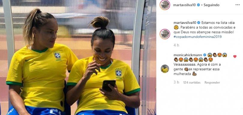 Marta é convocada para Copa Mundo 2019